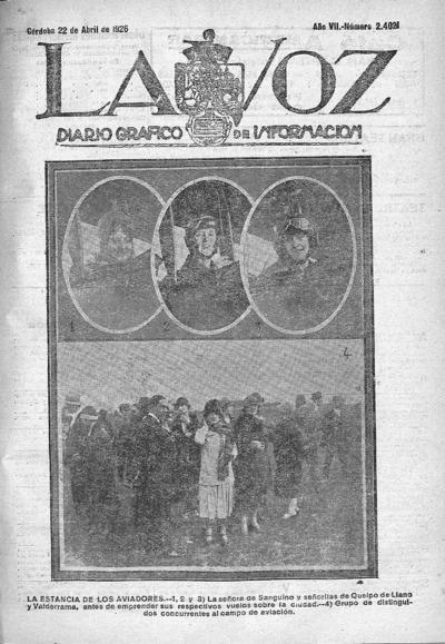 Image from object titled La voz : diario gráfico de información: Año VII Número 2421 - 1926 abril 22