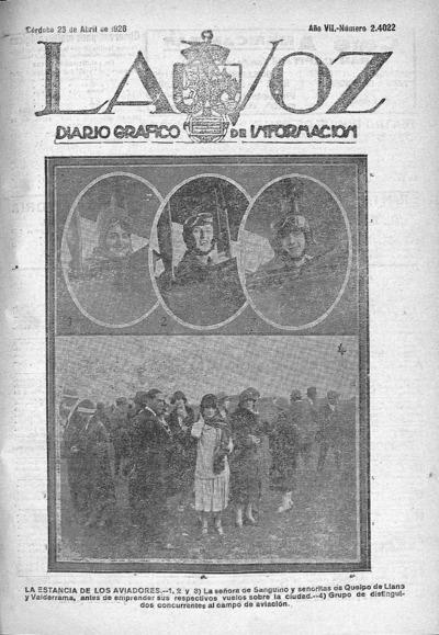 Image from object titled La voz : diario gráfico de información: Año VII Número 2422 - 1926 abril 23
