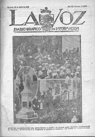 Image from object titled La voz : diario gráfico de información: Año VII Número 2425 - 1926 abril 26