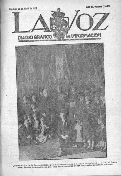 Image from object titled La voz : diario gráfico de información: Año VII Número 24027 - 1926 abril 28