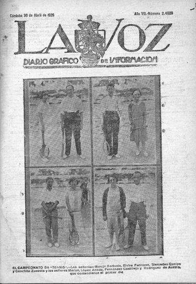 Image from object titled La voz : diario gráfico de información: Año VII Número 24029 - 1926 abril 30