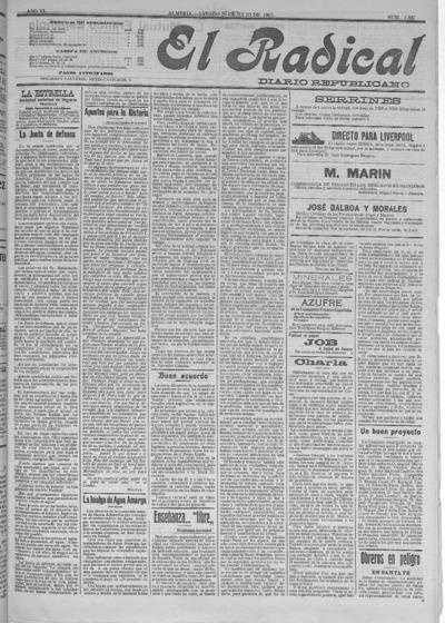 Image from object titled El Radical : diario republicano: Año VI Número 1537 - 1907 julio 20