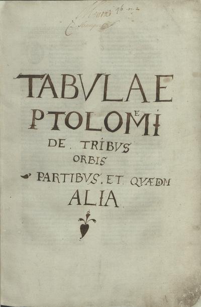 Cosmographia. Registrum alphabeticum super octo libros Ptolemaei. De Locis ac mirabilibus mundi