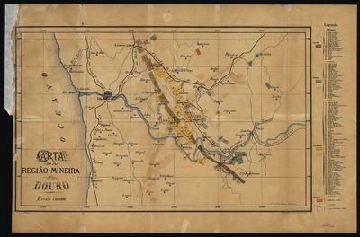 Image from object titled Carta da região mineira do Douro