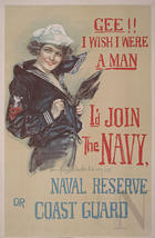 Gee! I wish I were a man I'd join the Navy, Naval Reserve or Coast Guard