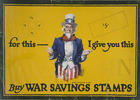 For this - I give you this buy War Savings Stamps