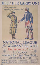 Help her carry on! National League for Women's Service - The Woman Army