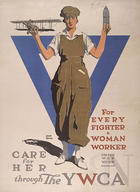 For every fighter a woman worker care for her through the Y.W.C.A : United War Work Campaign
