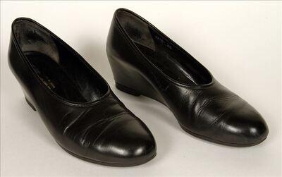 Zwarte leren schoenen