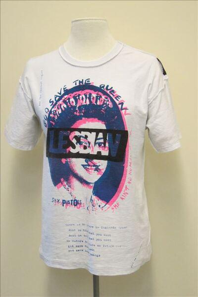 T-shirt in witte katoen met print