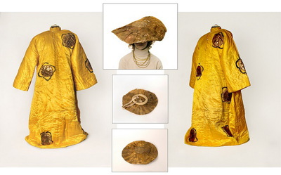"""Mandarin's Robe and Hat: Costume for Le chant du rossignol (""""The Song of the Nightingale"""")"""