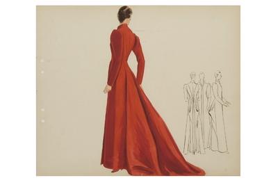 Modèle de manteau long
