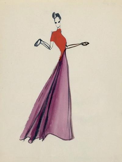 Modèle de robe longue