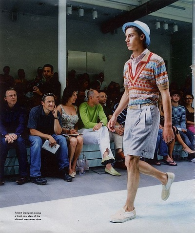 Archivio Missoni - Editorial page from The Times, GB. Men Collection