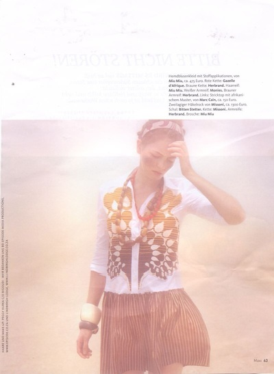 Archivio Missoni - Editorial page from Maxi, German