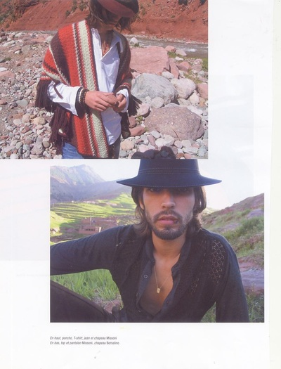 Archivio Missoni - Editorial page from L'Officiel Hommes, France