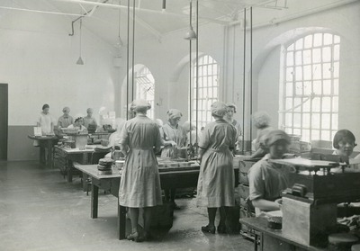 Image from object titled Workers in the Jacob's Factory