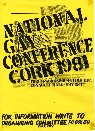 Image from object titled 1981 National Gay Conference Cork Poster