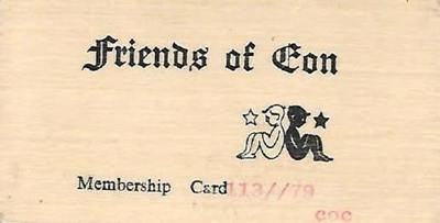 Image from object titled Friends of Eon Membership Card