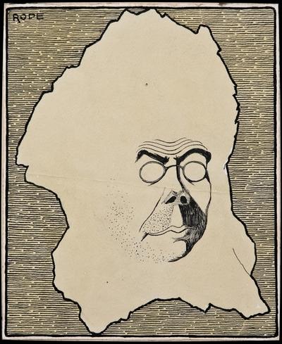 Umjetnička evolucija. M. Beyssohn (Karikatura Milana Begovića): crtež