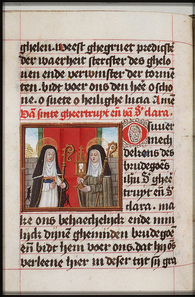 Image from object titled St. Gertrude of Nivelles and St. Clare of Assisi