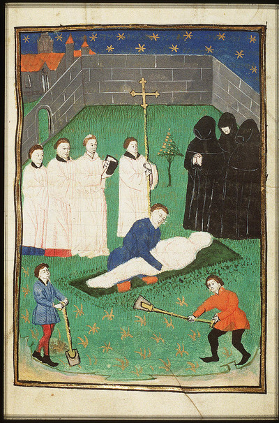 Image from object titled A burial on a graveyard