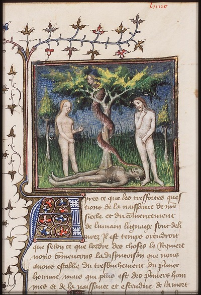 Image from object titled The fall of man: Adam and Eve eat from the Tree of Knowledge of Good and Evil