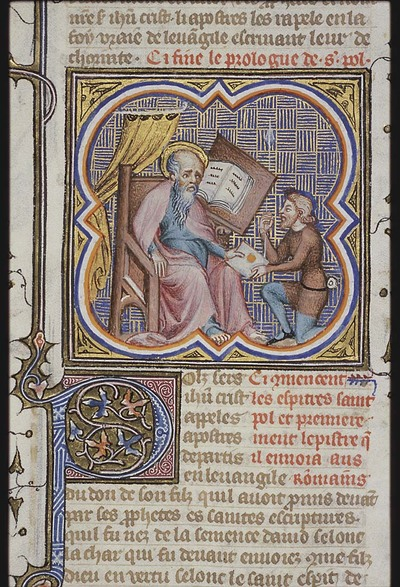 St. Paul giving his letter to a messenger