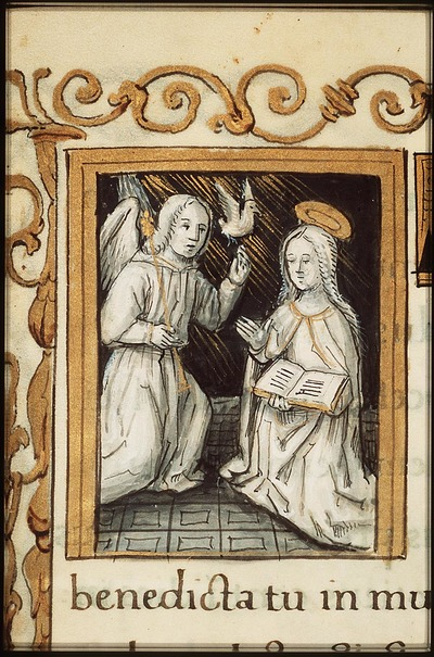 Image from object titled The Annunciation: Gabriel announces Christ's birth to Mary