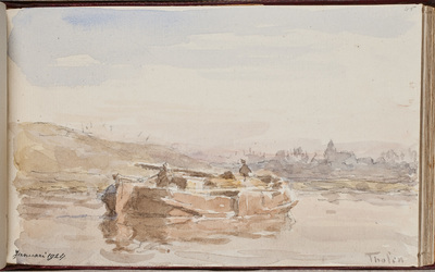 Watergezicht met boot / [Willem Bastiaan] Tholen (1860-1931)