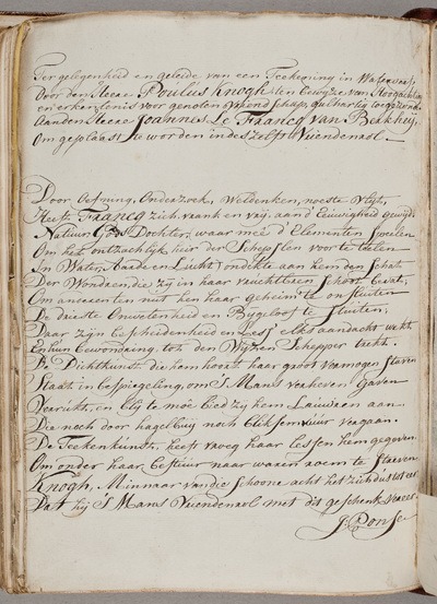 Image from object titled Albuminscriptie / door Paulus Knogh (1737-1802)