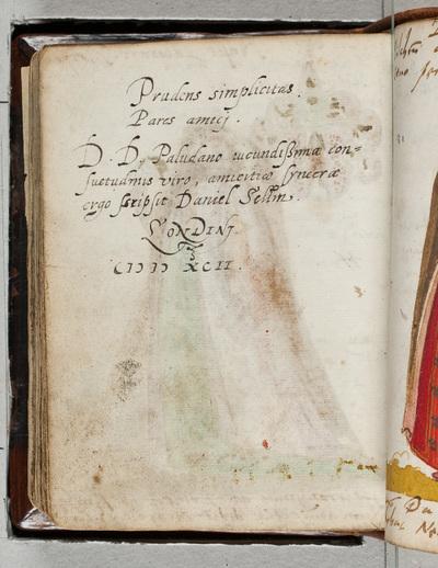 Image from object titled Albuminscriptie / van Hanns von Rufenberge, voor Bernardus Paludanus (1550-1633)