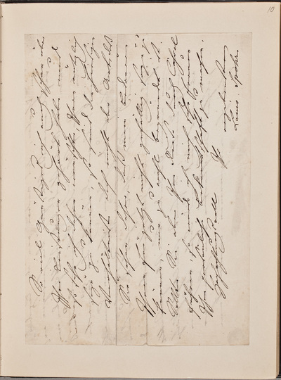 Image from object titled Brief van Louis Spohr (1784-1859), componist, geschreven aan N.N