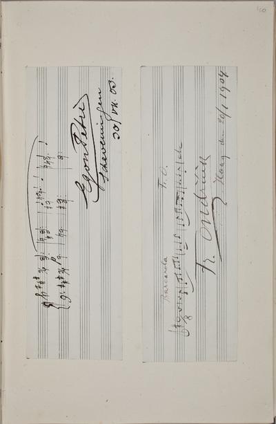 Muzikale bijdrage / van Egon Petri (1881-1962), pianist, voor het autografenalbum van Rudolf Hugo Driessen (1873-1946) en Caroline Driessen-Kleyn (1883-1938)