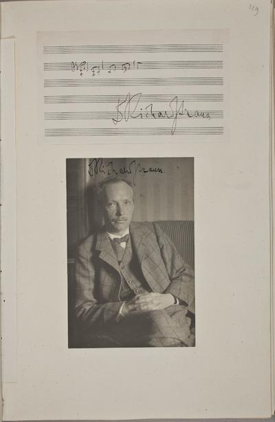 Muzikale bijdrage / van Richard Strauss (1864-1949), componist, voor het autografenalbum van Rudolf Hugo Driessen (1873-1946) en Caroline Driessen-Kleyn (1883-1938)