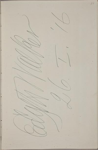 Handtekening / van Edyth Walker (1867-1950), zangeres, in het autografenalbum van Rudolf Hugo Driessen (1873-1946) en Caroline Driessen-Kleyn (1883-1938)