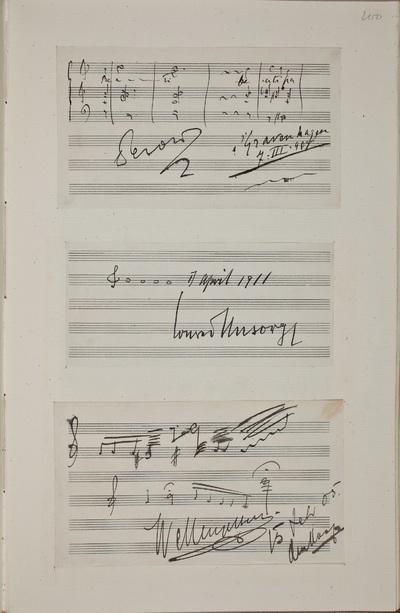 Muzikale bijdrage / van Conrad Ansorge (1862-1930), pianist en componist, voor het autografenalbum van Rudolf Hugo Driessen (1873-1946) en Caroline Driessen-Kleyn (1883-1938)