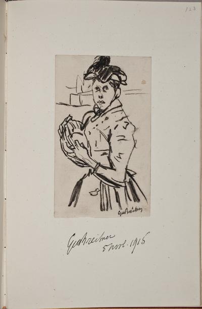 Illustratie / van George Hendrik Breitner (1857-1923), kunmstenaar, voor het autografenalbum van Rudolf Hugo Driessen (1873-1946) en Caroline Driessen-Kleyn (1883-1938)
