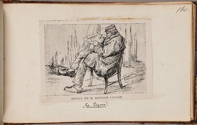 Man lezend in Le Figaro / door [Jules] Bastien-Lepage (1848-1884)