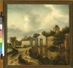 Gezicht op de Zijlpoort te Haarlem uit het zuidwesten