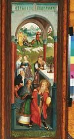 Rechterzijluik van een triptiek met voorstellingen uit het leven van Joachim en Anna: de ontmoeting van Joachim en Anna