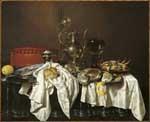 Image from object titled Stilleven met pastei en zilveren kan
