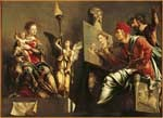 Image from object titled St Luke painting the Madonna