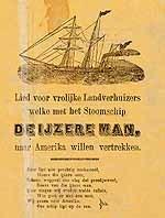 Image from object titled Lied voor vrolijke Landverhuizers welke met het Stoomschip DE IJZERE MAN, naar Amerika willen vertrekken