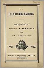 No. 33. DE VALSCHE BARONES. VOORDRACHT voor 4 DAMES