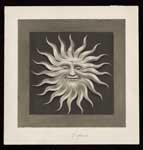 Niet uitgevoerd ontwerp, postzegels Nederland 1943 Germaanse symbolen, lachende zon