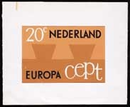 Image from object titled Ontwerp, postzegels Nederland 1965 Europapostzegels