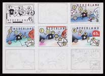 Voorstudie voor Europapostzegels Nederland 1981