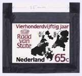 Werktekening voor postzegels Nederland 1981 450 jaar Raad van State