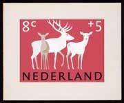 Ontwerp voor Zomerpostzegel Nederland 1964, Herten